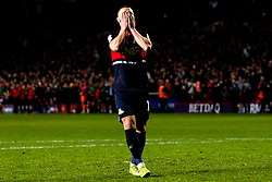 Tommy Rowe of Doncaster Rovers cuts a dejected figure after missing his penalty in the shootout against Charlton Athletic - Mandatory by-line: Robbie Stephenson/JMP - 17/05/2019 - FOOTBALL - The Valley - Charlton, London, England - Charlton Athletic v Doncaster Rovers - Sky Bet League One Play-off Semi-Final 2nd Leg