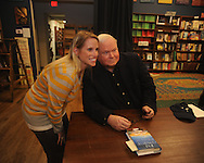 "Author Pat Conroy (right), appearing at Off Square Books to sign and talk about his book ""My Reading Life"", poses for a photo with Leslie Orrell in Oxford, Miss. on Wednesday, November 3, 2010."