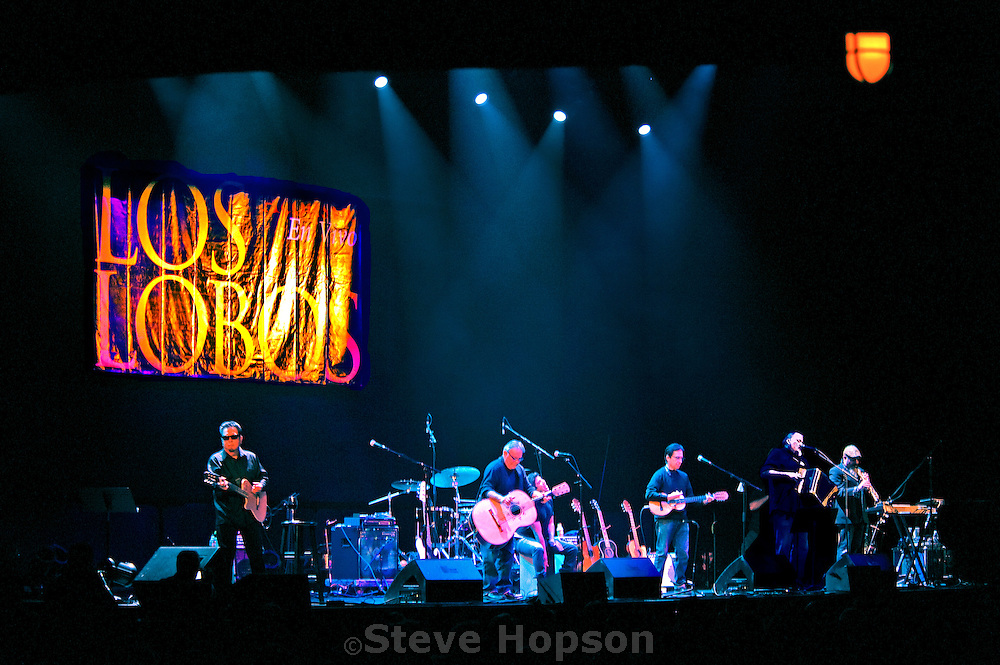 Los Lobos performing at ACL Live at the Moody Theater,  Austin, Texas, January 18, 2013. Los Lobos are a multiple Grammy Award-winning American Chicano rock band from East Los Angeles, California.