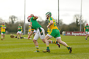 NHL Division 2B at Trim, 6th March 2016<br /> Meath vs Donegal<br /> James Toher  (Meath) & Justin McGhee (Donegal)<br /> Photo: David Mullen /www.cyberimages.net / 2016