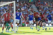 Goal - Callum Wilson (13) of AFC Bournemouth scores a goal to give a 1-0 lead to the home team during the Premier League match between Bournemouth and Everton at the Vitality Stadium, Bournemouth, England on 15 September 2019.