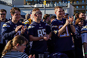 Los Angeles Chargers fans the International Series match between Tennessee Titans and Los Angeles Chargers at Wembley Stadium, London, England on 21 October 2018.