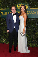 Alan Carr, Melanie Sykes, London Evening Standard Theatre Awards, Theatre Royal Drury Lane, London UK, 03 December 2017, Photo by Richard Goldschmidt