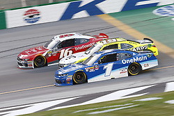July 13, 2018 - Sparta, Kentucky, United States of America - Ryan Reed (16), Brandon Jones (19) and Elliott Sadler (1) battle for position during the Alsco 300 at Kentucky Speedway in Sparta, Kentucky. (Credit Image: © Chris Owens Asp Inc/ASP via ZUMA Wire)