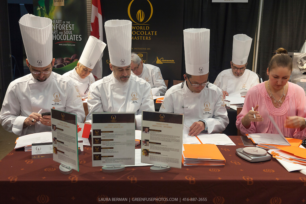 Canadian World Chocolate Masters Judges