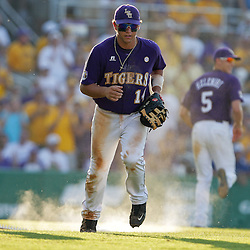 06 June 2009:  Sean Ochinko (14) of LSU on action during a 5-3 victory by the LSU Tigers over the Rice Owls in game two of the NCAA baseball College World Series, Super Regional played at Alex Box Stadium in Baton Rouge, Louisiana. The Tigers with the win advance to next week's College Baseball World Series in Omaha, Nebraska.