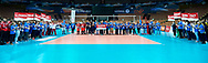 Katowice, Poland - 2017 September 03: SO Slovakia and SO Azerbaijan and SO Finland and SO Russia and SO Czech Republic and SO Poland and SO Belarus and SO Germany and SO Serbia and SO Italy while Awarding Ceremony during European Unified Volleyball Tournament 2017 at Spodek Hall on September 03, 2017 in Katowice, Poland.<br /> <br /> Adam Nurkiewicz declares that he has no rights to the image of people at the photographs of his authorship.<br /> <br /> Picture also available in RAW (NEF) or TIFF format on special request.<br /> <br /> Any editorial, commercial or promotional use requires written permission from the author of image.<br /> <br /> Image can be used in the press when the method of use and the signature does not hurt people on the picture.<br /> <br /> Mandatory credit:<br /> Photo by © Adam Nurkiewicz / Mediasport