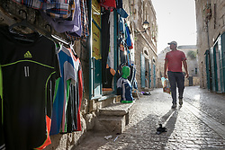 2 May 2016, Bethlehem, Palestine: A man walks on a street in Bethlehem.