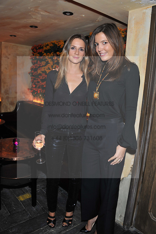 Left to right, AMANDA CROSSLEY and AMANDA FERRY at the launch party for the new nightclub Tonteria, 7-12 Sloane Square, London on 25th October 2012.