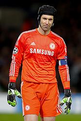 Petr Cech of Chelsea looks on - Photo mandatory by-line: Rogan Thomson/JMP - 07966 386802 - 10/12/2014 - SPORT - FOOTBALL - London, England - Stamford Bridge - Sporting Clube de Portugal - UEFA Champions League Group G.
