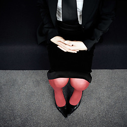 Dec. 05, 2012 - Businesswoman's lap (Credit Image: © Image Source/ZUMAPRESS.com)