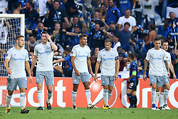 September 14, 2017 - Reggio Emilia, Italy - Delusion of Everton players after the goal of 1-0  during the UEFA Europa League Group E football match Atalanta vs Everton at The Stadio Città del Tricolore in Reggio Emilia on September 14, 2017. (Credit Image: © Matteo Ciambelli/NurPhoto via ZUMA Press)