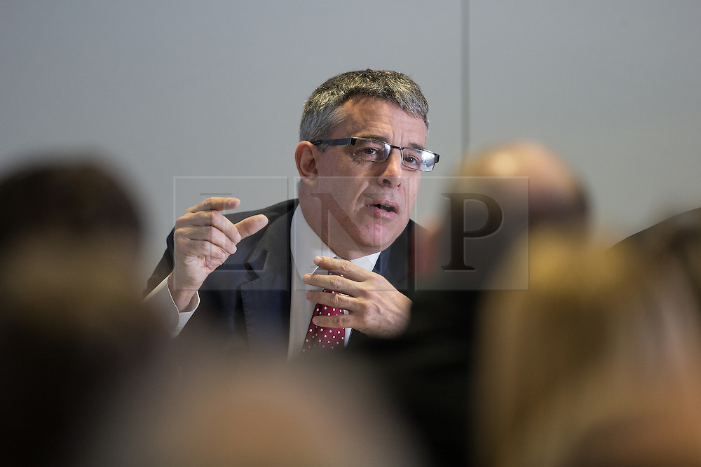 © Licensed to London News Pictures . 05/02/2016 . Manchester , UK . JEFF SMITH MP . Labour in for Britain pro-EU campaign event at the Siemens technology campus in South Manchester . Photo credit : Joel Goodman/LNP