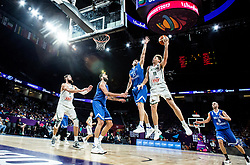 Georgios Printezis of Greece vs Mindaugas Kuzminskas of Lithuania during basketball match between National Teams of Lithuania and Greece at Day 10 in Round of 16 of the FIBA EuroBasket 2017 at Sinan Erdem Dome in Istanbul, Turkey on September 9, 2017. Photo by Vid Ponikvar / Sportida