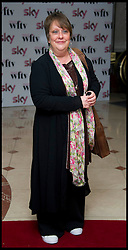KATHY BURKE arrives for The Sky Woman In Film and Television Awards 2011, Friday December 2, 2011, At the Hilton Hotel, London. Photo By i-Images