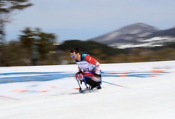 Canada's Sebastien Fortier competes in the Men's 7.5km, Sitting Cross Country Skiing, at the Alpensia Biathlon Centre during day eight of the PyeongChang 2018 Winter Paralympics in South Korea