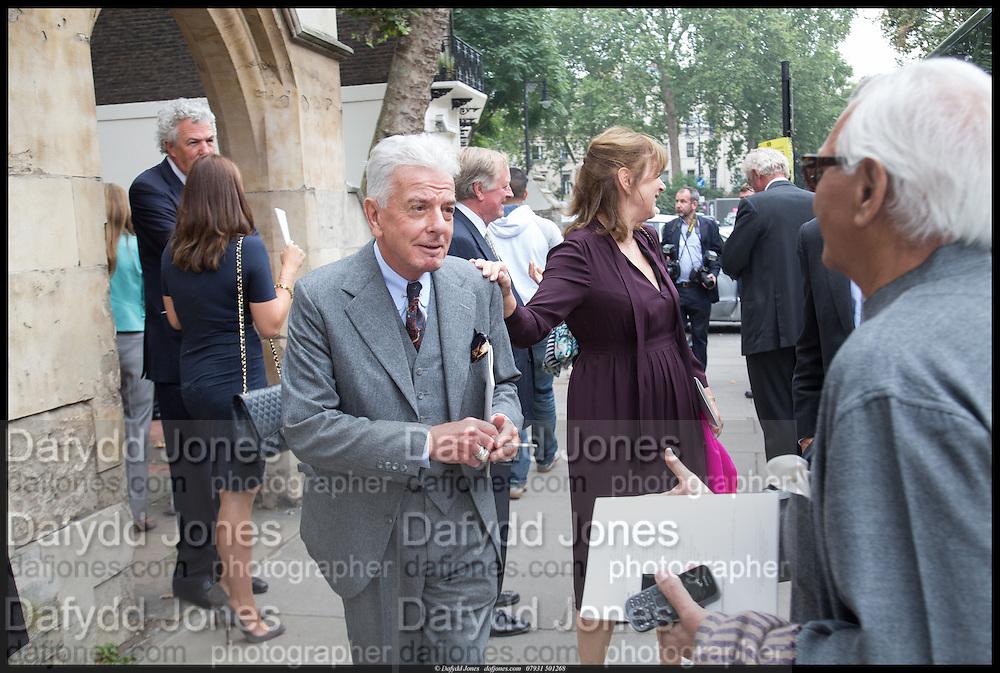 NICKY HASLAM, Memorial service for Mark Shand.  . St. Paul's Knightsbridge. September 11 2014.