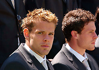 Photo. Richard Lane<br />Southampton FC FA Cup Preview Day at St. Mary's. 13/05/2003.<br />James Beattie.