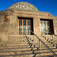 Adler Planetarium and Astronomy Museum entrance in Chicago, Illinois, USA.