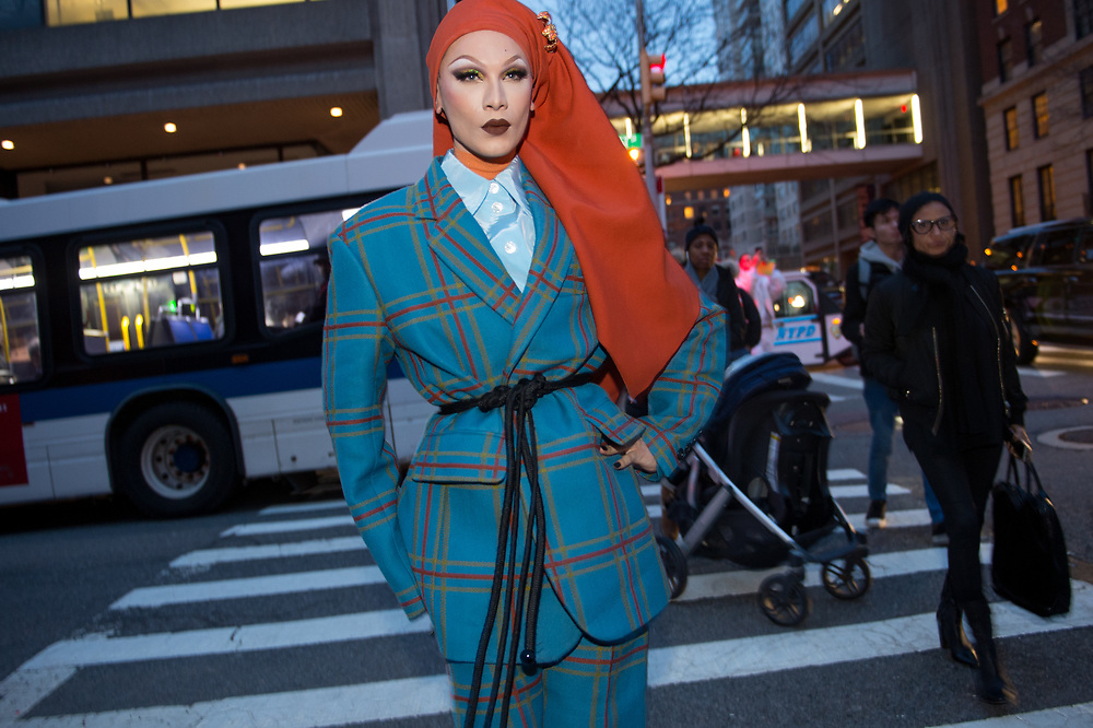 Miss Fame at Marc Jacobs FW2018