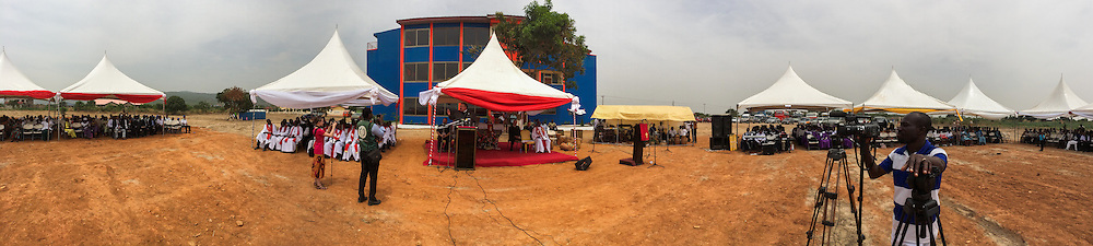 A panorama from the dedication and service of the Lutheran Theological Seminary of the Evangelical Lutheran Church of Ghana on Sunday, Feb. 2, 2014, in Greater Accra, Ghana. LCMS Communications/Erik M. Lunsford