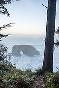 Natural Bridges viewpoint at Samuel H Boardman State Park, in Southern Oregon