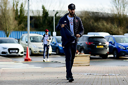 Chris Taylor of Bristol Flyers arrives at SGS College Arena prior to kick off - Photo mandatory by-line: Ryan Hiscott/JMP - 16/02/2020 - BASKETBALL - SGS College Arena - Bristol, England - Bristol Flyers v Solent Kestrels - British Basketball League Trophy semi-final