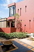 Garden courtyard at Espa spa.