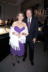 VIVIEN YAKOPIN MD of Asprey and LORD BRUCE DUNDAS at the Asprey Winter Wonderland party held at their store, 167 New Bond Street, London on 4th December 2008.