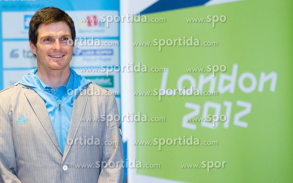 Peter Kauzer during presentation of Slovenian Olympic and Paralympic team for London 2012, on July 6, 2012 in Ljubljana's Castle, Ljubljana, Slovenia.  (Photo by Vid Ponikvar / Sportida.com)
