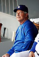 May 12, 2007:  Manager Grady Little in the dugout as the Los Angeles Dodgers defeated the Cincinnati Reds 7-3 at Dodger Stadium in Los Angeles, CA.