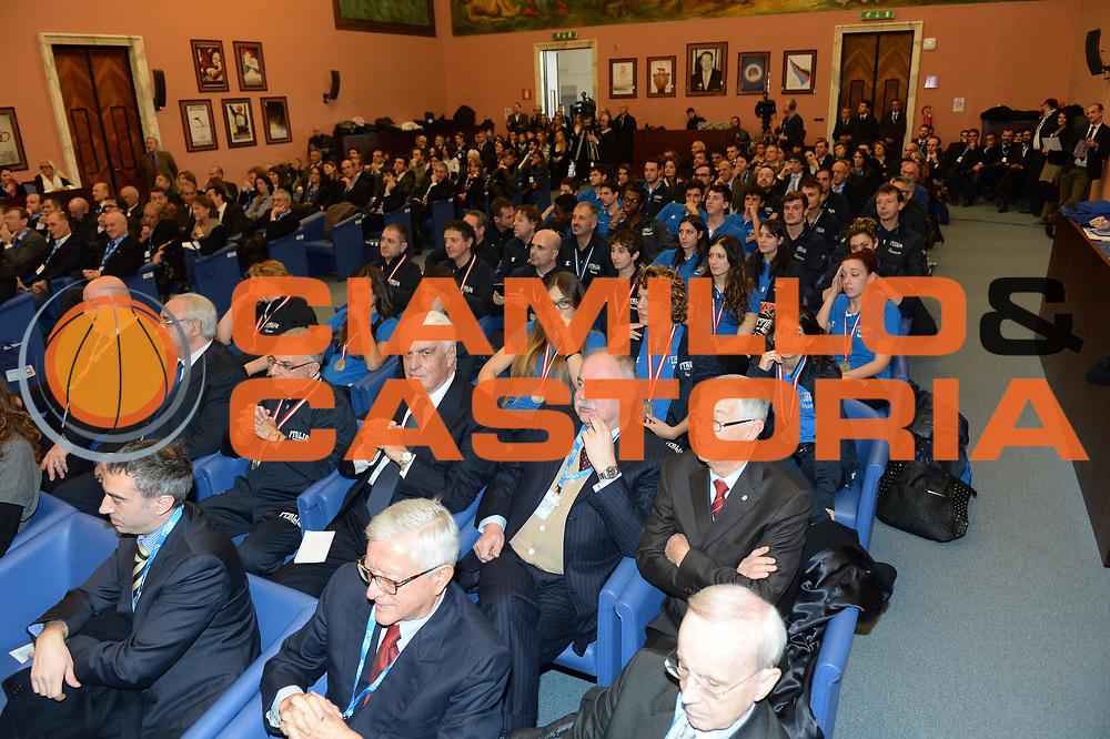 DESCRIZIONE : Roma Basket Day Hall of Fame 2013<br /> GIOCATORE : Salone Onore Coni Marchese Cappellari<br /> SQUADRA : FIP Federazione Italiana Pallacanestro <br /> EVENTO : Basket Day Hall of Fame 2013<br /> GARA : Roma Basket Day Hall of Fame 2013<br /> DATA : 09/12/2013<br /> CATEGORIA : Premiazione<br /> SPORT : Pallacanestro <br /> AUTORE : Agenzia Ciamillo-Castoria/GiulioCiamillo
