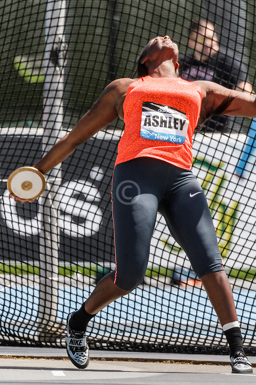 adidas Grand Prix Diamond League Track & Field: womens discus, Whitney Ashley, USA