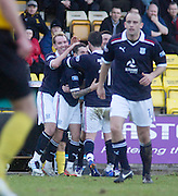 Dundee's Jamie McCluskey is congratulated after scoring the winner - Livingston v Dundee, IRN BRU Scottish Football League, First Division - ..© David Young - .5 Foundry Place - .Monifieth - .Angus - .DD5 4BB - .Tel: 07765 252616 - .email: davidyoungphoto@gmail.com.web: www.davidyoungphoto.co.uk