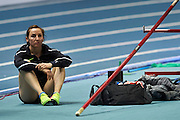 Torun, Poland - 2017 February 10: Nicole Buchler from Switzerland looks forward during women&rsquo;s pole vault while Copernicus Cup 2017 at the Sports and Entertainment Arena on February 10, 2017 in Torun, Poland.<br /> <br /> Mandatory credit:<br /> Photo by &copy; Adam Nurkiewicz / Mediasport<br /> <br /> Adam Nurkiewicz declares that he has no rights to the image of people at the photographs of his authorship.<br /> <br /> Picture also available in RAW (NEF) or TIFF format on special request.<br /> <br /> Any editorial, commercial or promotional use requires written permission from the author of image.<br /> <br /> Image can be used in the press when the method of use and the signature does not hurt people on the picture.