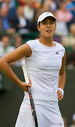 LONDON, ENGLAND - Friday, June 27, 2008: Ana Ivanovic (SRB) during her 3rd round defeat on day five of the Wimbledon Lawn Tennis Championships at the All England Lawn Tennis and Croquet Club. (Photo by David Rawcliffe/Propaganda)