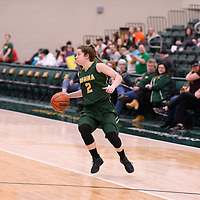 3rd year guard Michaela Kleisinger (2) of the Regina Cougars in action during the Women's Basketball home game on January  20 at Centre for Kinesiology, Health and Sport. Credit: /Arthur Images
