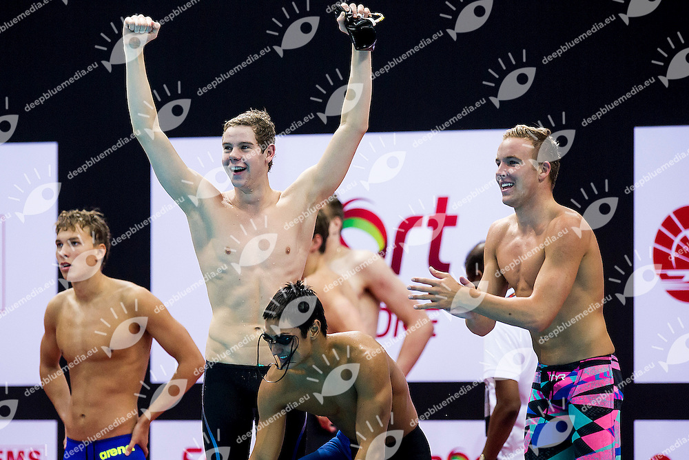 Team United States USA<br /> 4X200 Freestyle Men Relay Final Gold Medal<br /> Day04 28/08/2015 - OCBC Aquatic Center<br /> V FINA World Junior Swimming Championships<br /> Singapore SIN  Aug. 25-30 2015 <br /> Photo A.Masini/Deepbluemedia/Insidefoto