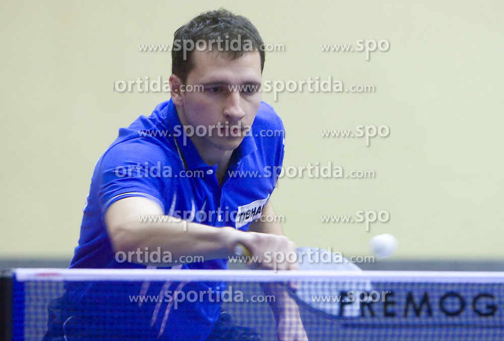 Mitja Horvat of Slovenia at 10th Slovenian Open Table Tennis Championships - Pro Tour Velenje Slovenian Open tournament, in Round 1, on January 15, 2009, in Red sports hall, Velenje, Slovenia. (Photo by Vid Ponikvar / Sportida)