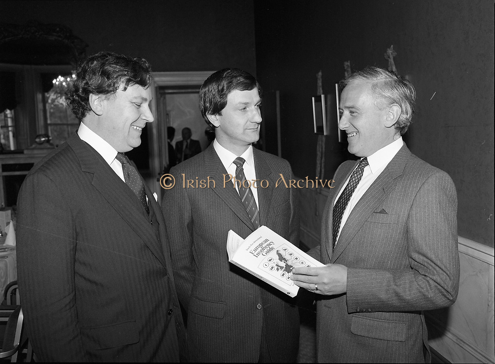European Insolvency guide launched at the Shelbourne Hotel, 27 St Stephen's Green, Dublin,<br />
