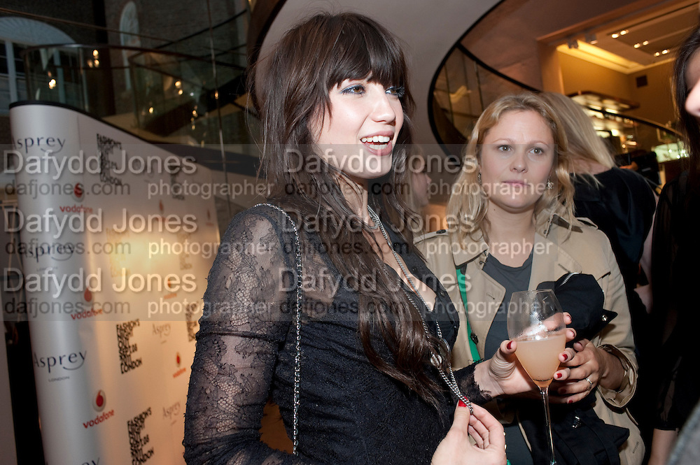 DAISY LOWE,  Vogue Fashion night out.- Alexandra Shulman and Paddy Byng are host a party  to celebrate the launch for Fashion&Otilde;s Night Out At Asprey. Bond St and afterwards in the street. London. 8 September 2011. <br />  <br />  , -DO NOT ARCHIVE-&copy; Copyright Photograph by Dafydd Jones. 248 Clapham Rd. London SW9 0PZ. Tel 0207 820 0771. www.dafjones.com.<br /> DAISY LOWE,  Vogue Fashion night out.- Alexandra Shulman and Paddy Byng are host a party  to celebrate the launch for Fashion&rsquo;s Night Out At Asprey. Bond St and afterwards in the street. London. 8 September 2011. <br />  <br />  , -DO NOT ARCHIVE-&copy; Copyright Photograph by Dafydd Jones. 248 Clapham Rd. London SW9 0PZ. Tel 0207 820 0771. www.dafjones.com.