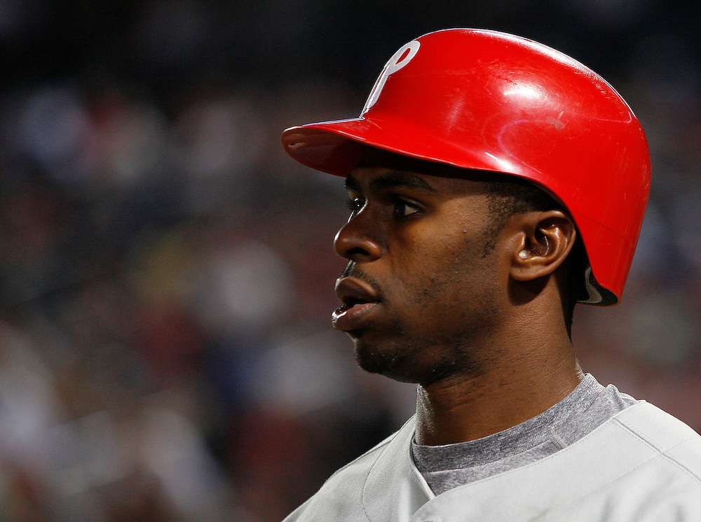 Phillies outfielder Michael Bourn during the game between the Atlanta Braves and the Philadelphia Phillies at Turner Field in Atlanta, GA on April 30, 2007..