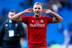 Andi Weimann of Bristol City celebrates beating Cardiff City - Mandatory by-line: Robbie Stephenson/JMP - 10/11/2019 -  FOOTBALL - Cardiff City Stadium - Cardiff, Wales -  Cardiff City v Bristol City - Sky Bet Championship