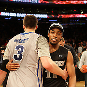 Bryce Cotton, Providence, celebrates victory at the end of the game during the Creighton Bluejays Vs Providence Friars basketball game during the Big East Conference Tournament Final at Madison Square Garden, New York, USA. 15th March 2014. Photo Tim Clayton
