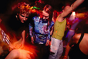 Clubbers dancing at Melkweg Amsterdam February 2002