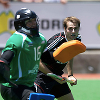 MELBOURNE - Champions Trophy men 2012<br /> Germany v New Zealand<br /> foto:  Tobias Matania is wachting the bal and goalkeeper.<br /> FFU PRESS AGENCY COPYRIGHT FRANK UIJLENBROEK