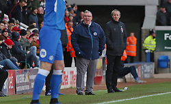 Peterborough United Manager Steve Evans shouts instructions from the touchline alongside Charlton Athletic manager Lee Bowyer - Mandatory by-line: Joe Dent/JMP - 26/01/2019 - FOOTBALL - ABAX Stadium - Peterborough, England - Peterborough United v Charlton Athletic - Sky Bet League One