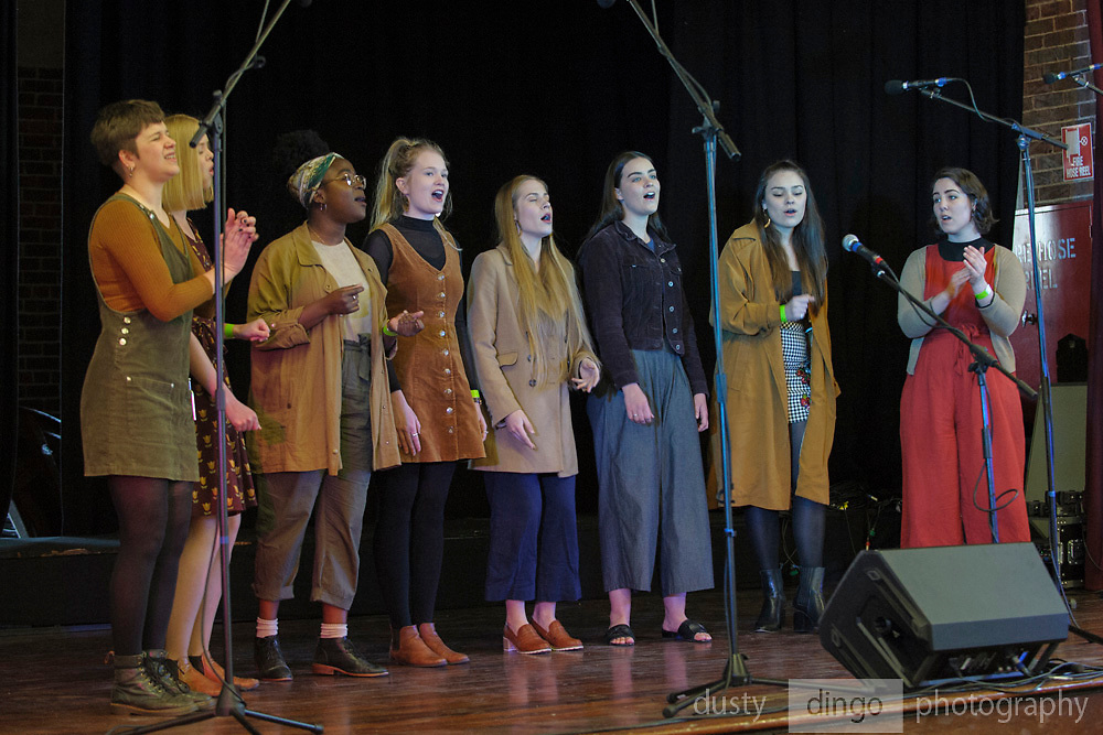 """Darling"" opening the 2018 Guildford Songfest, on stage at the Guildford Town Hall."