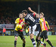 Dundee&rsquo;s Julen Etxabeguren joins the attack - Partick Thistle v Dundee in the Ladbrokes Scottish Premiership at Firhill, Glasgow - Photo: David Young, <br /> <br />  - &copy; David Young - www.davidyoungphoto.co.uk - email: davidyoungphoto@gmail.com