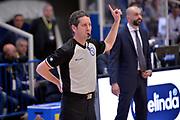 Evangelista Caiazza<br /> Dolomiti Energia Aquila Basket Trento - Consultinvest Victoria Libertas Pesaro<br /> Lega Basket Serie A 2016/2017<br /> Trento, 26/03/2017<br /> Foto M. Ceretti / Ciamillo - Castoria